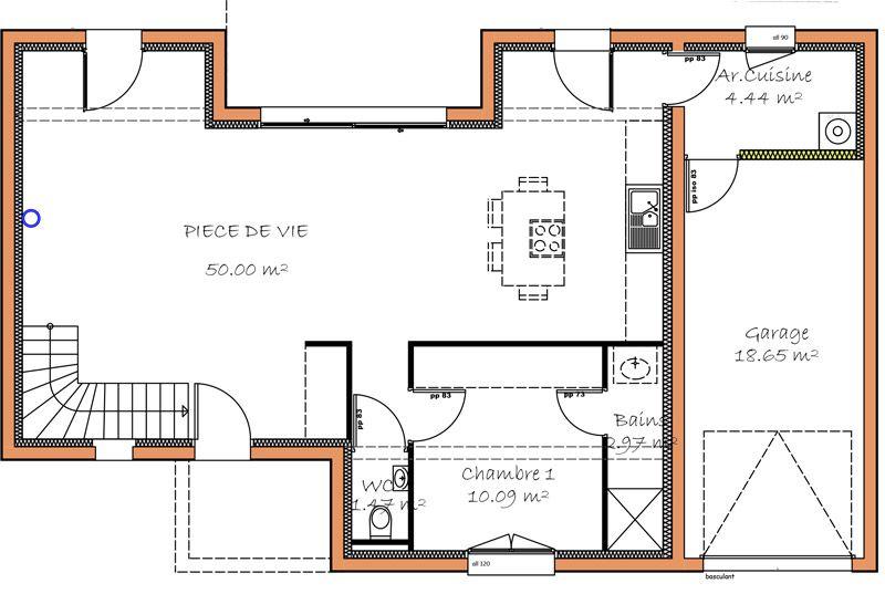 plan maison etage chambre rdc