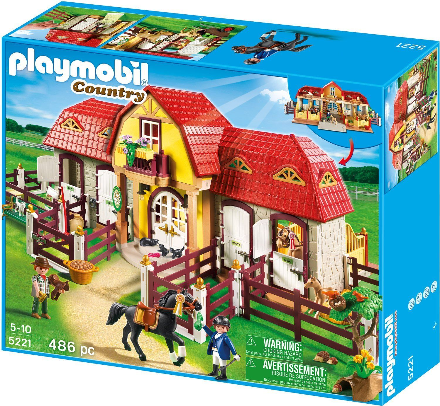 Amazon.com: Large Horse Farm with Paddock: Toys & Games