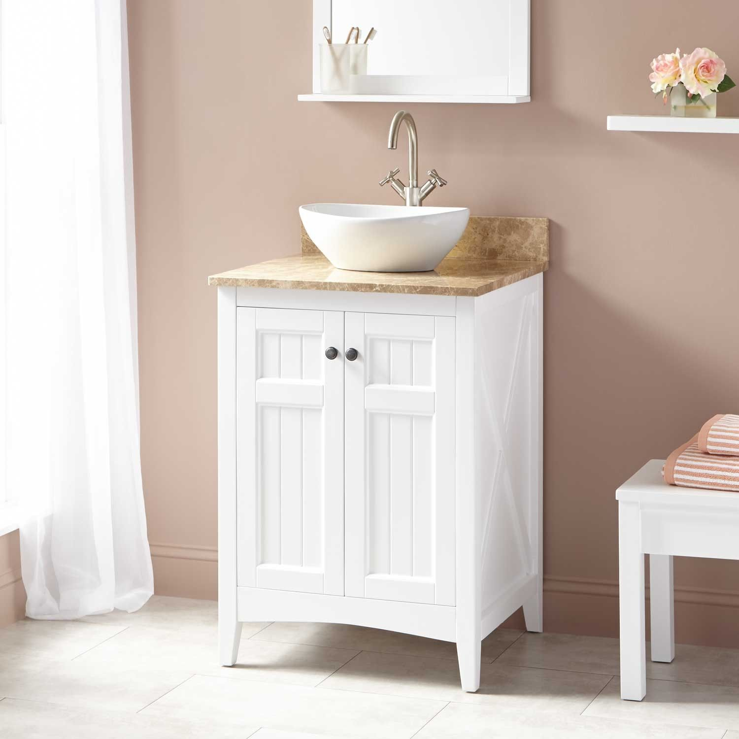 24 Alvelo Vessel Sink Vanity White In 2019