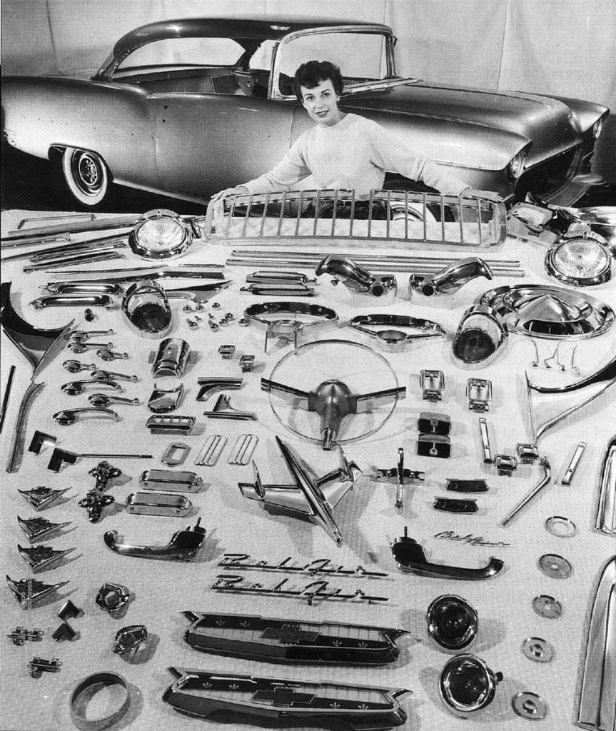 1955 Bel Air Chrome Silodrome Chevy Chevrolet 1955 Chevrolet