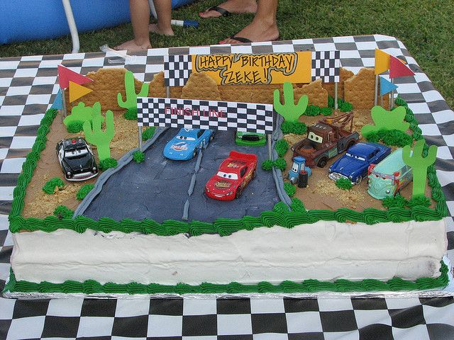 Wondrous Disney Cars Cake With Images Disney Cars Cake Cars Birthday Birthday Cards Printable Opercafe Filternl