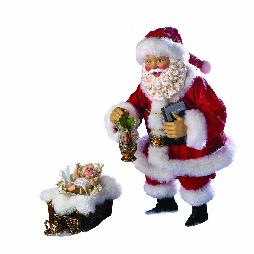 this kurt adler 10 inch fabric he nativity santa with baby jesus is a beautiful - Santa Claus And Jesus 2
