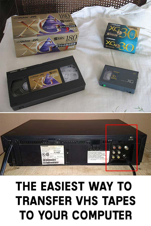 The Easiest Way To Transfer Vhs Tapes To Your Computer In 2020 Vhs Tapes Tapes Vhs