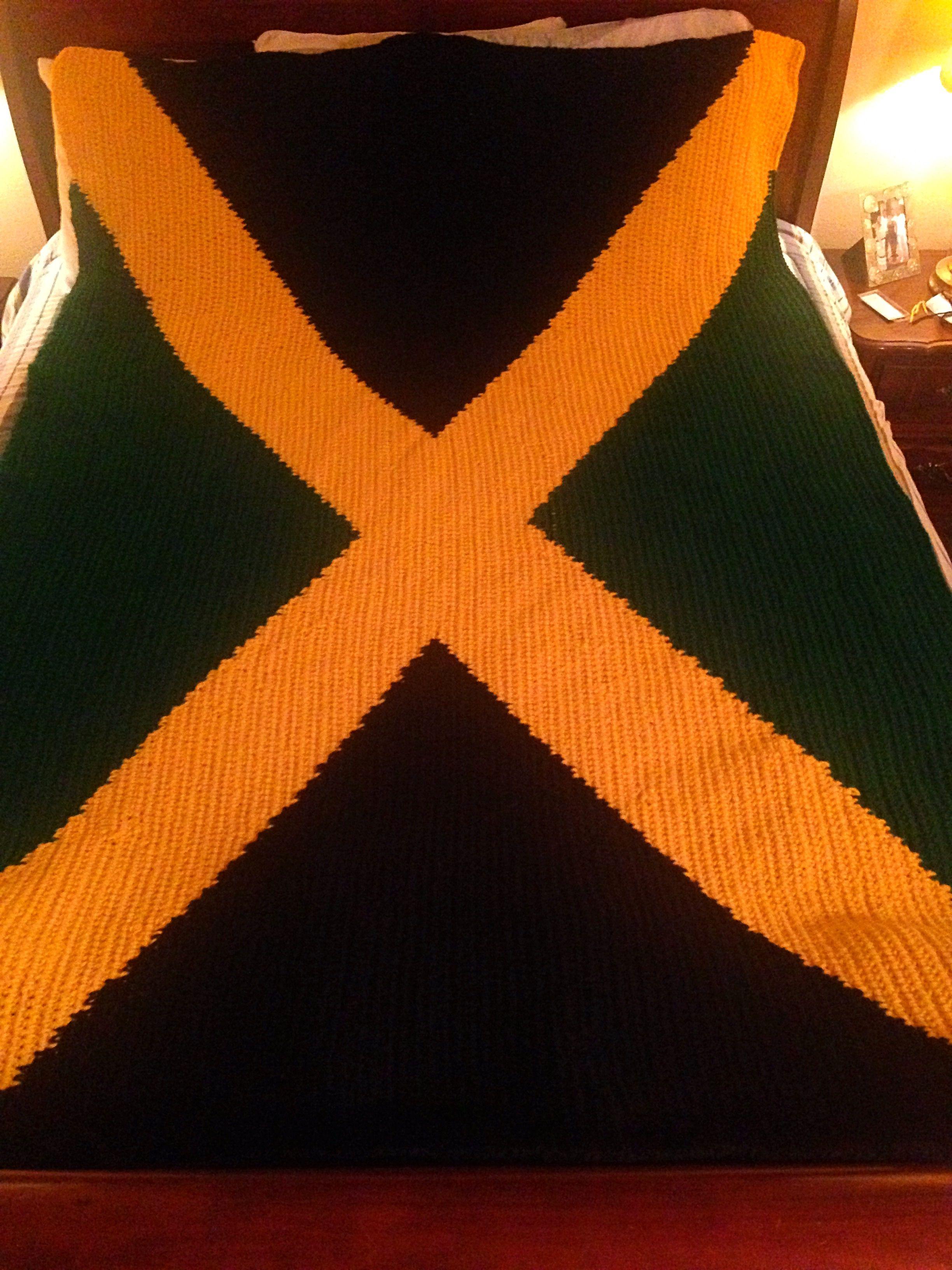 Jamaican flag crochet made for my husband   Blankets   Pinterest