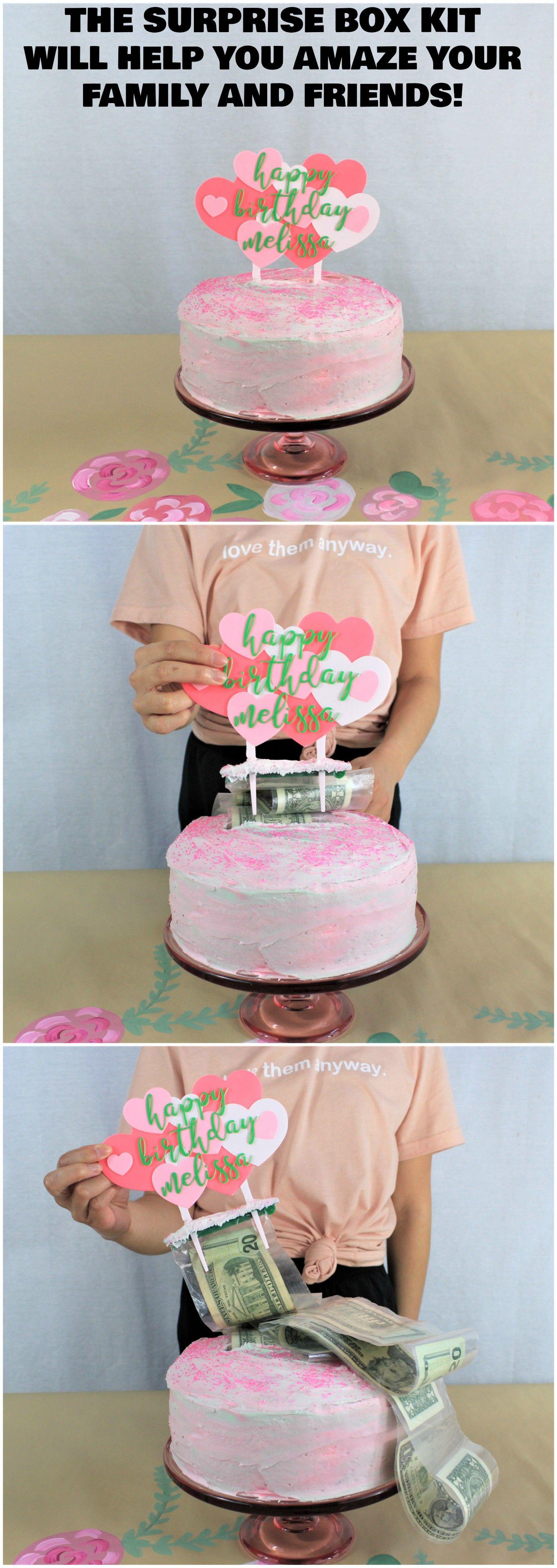 Money cake kit money dispenser for cake birthday surprise