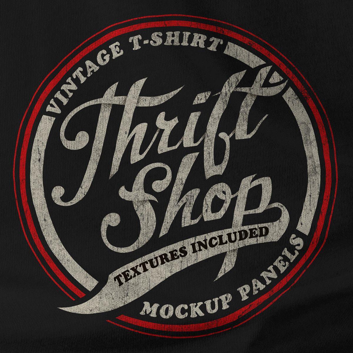 Thrift Shop Vintage T Shirt Texture Template Vintage Tshirts Typographic Logo Tshirt Design Inspiration