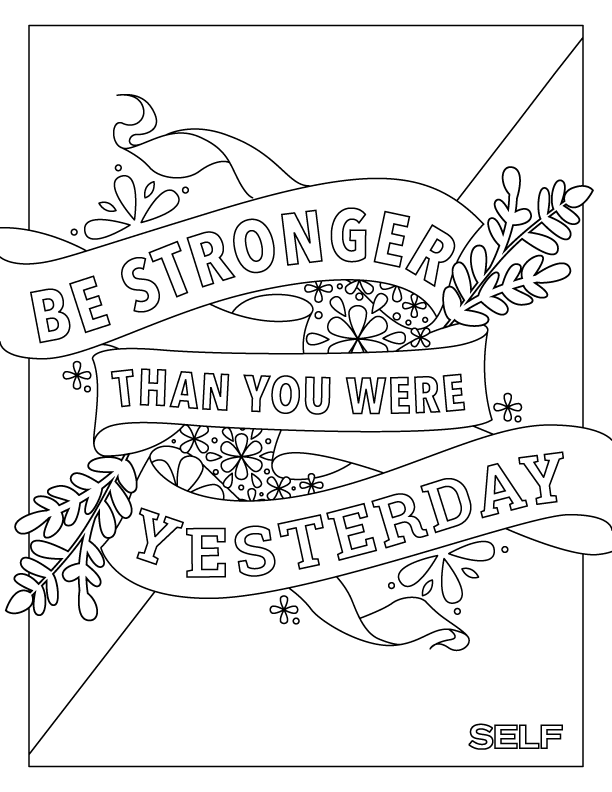 Here's The Fitness Adult Coloring Book You Never Knew You