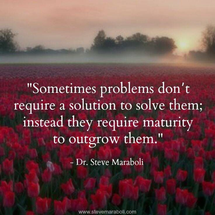 Problems don't always require a solution!