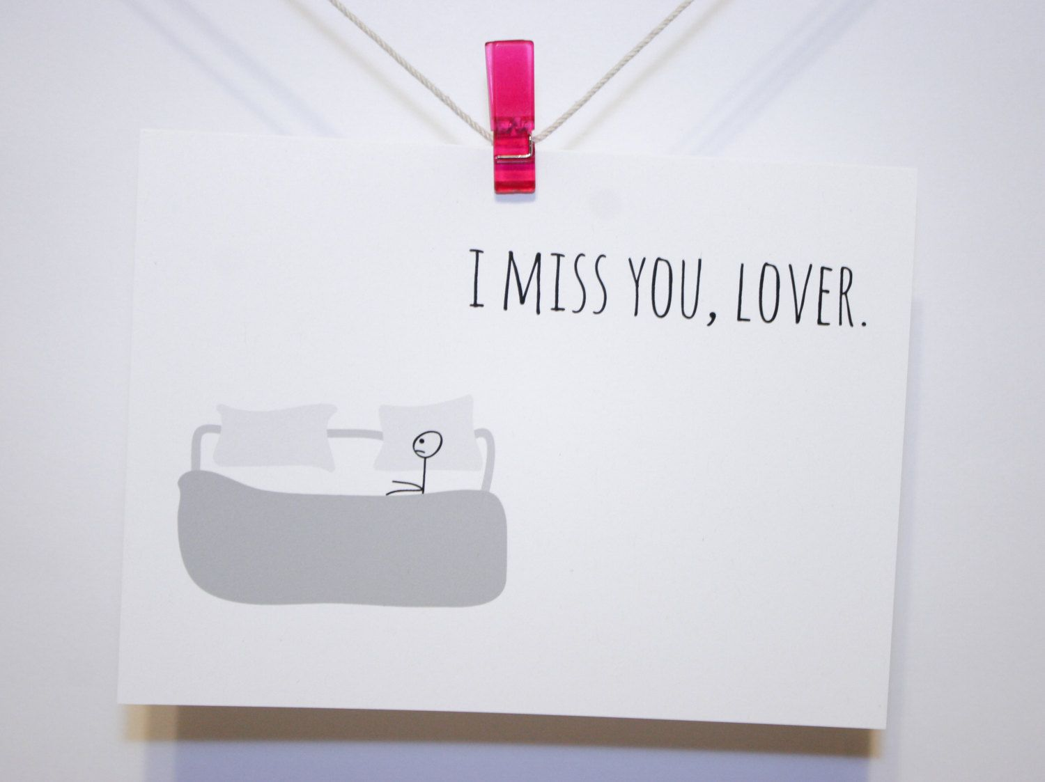 Miss You Card I Miss You Lover Recycled Hand By Hilovegreetings