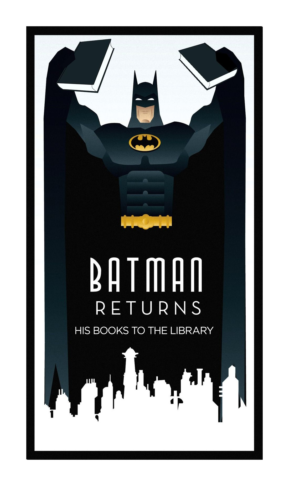 chicagopubliclibrary: Batman Returns… His books to the library ...