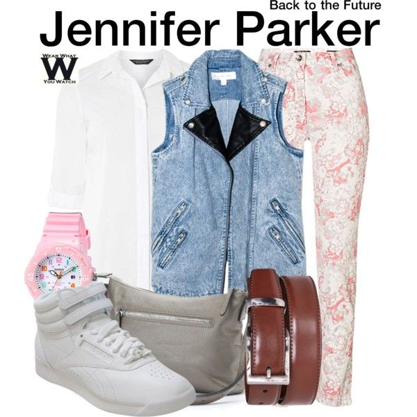 Inspired by Claudia Wells (1985) & Elisabeth Shue (1989) as Jennifer Parker in Back to the Future.