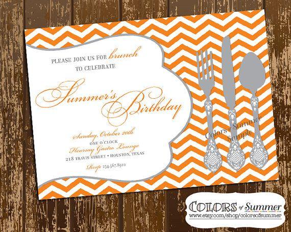 Birthday Brunch Invitation, Luncheon Invitation, Dinner Invite ...