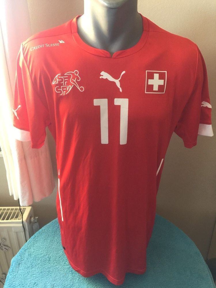5ebec177159 SWITZERLAND 2014 15 Football Shirt Soccer Jersey  11 Maillot Trikot  Camiseta  PUMA  Switzerland