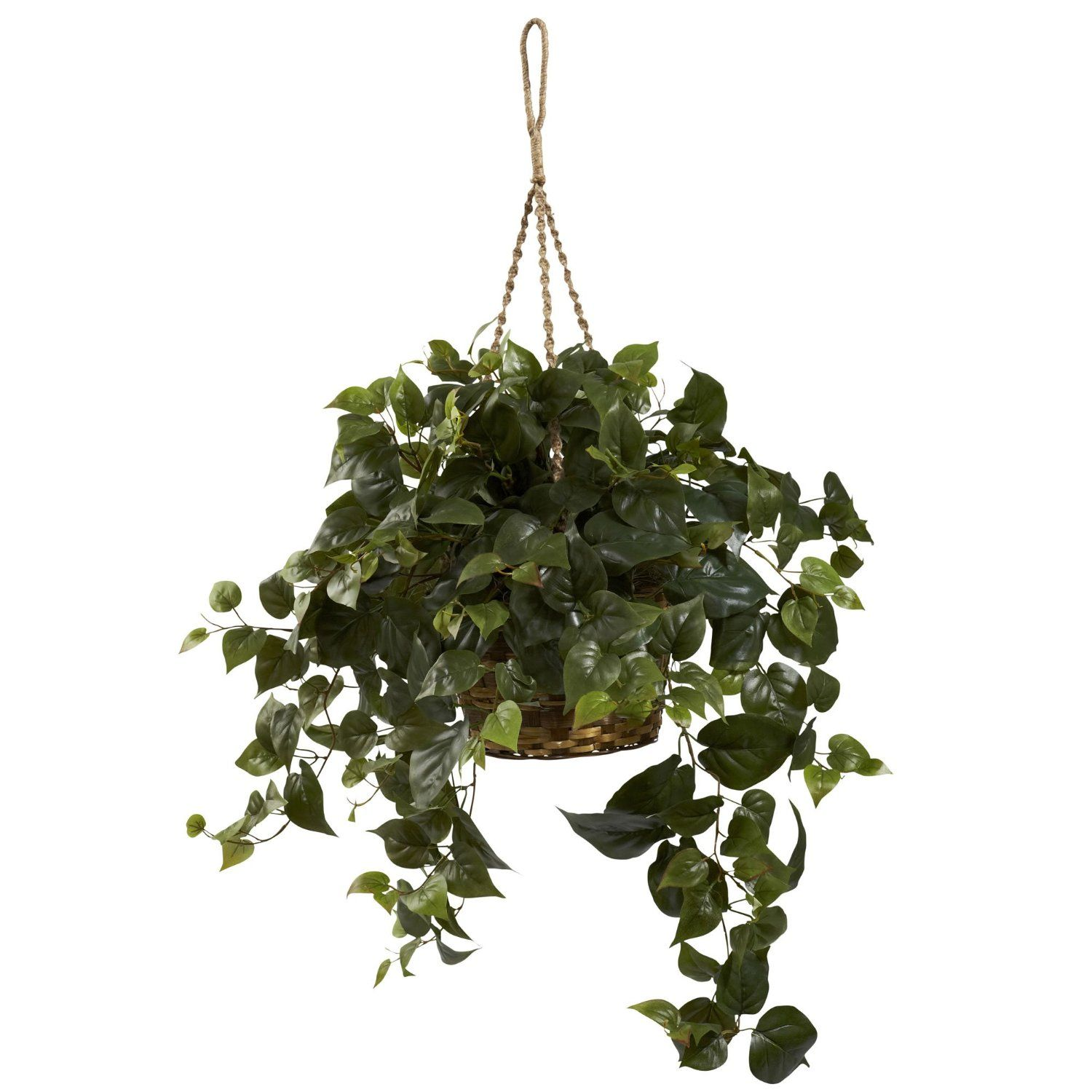 Amazoncom  Nearly Natural 6736 Philo Hanging Basket, Green