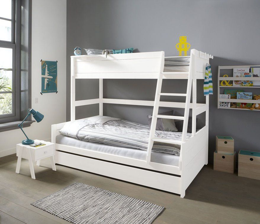 Family Double Bunk Bed Solid Wood White By Lifetime Kidsrooms