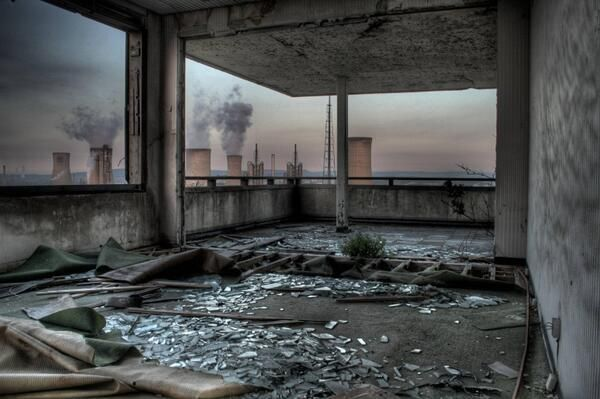 Abandoned room with a view, Billingham, NE England