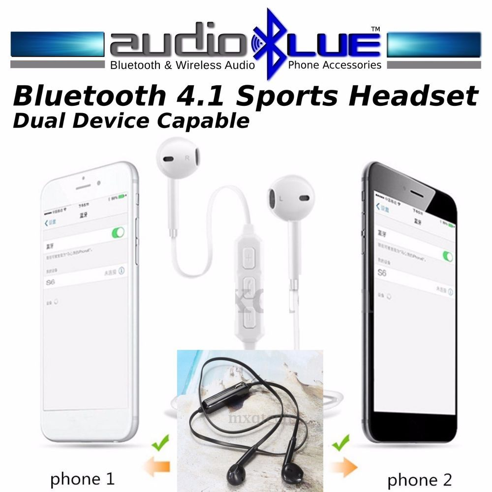 Audioblue Bluetooth 4 0 Sports Stereo Headset Connect Phone Devices Mic Stereo Audioblue Phone Headset Bluetooth