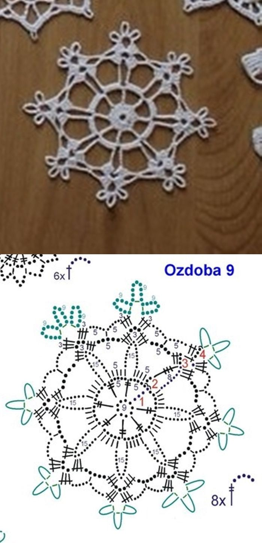 Снежинка | Вязание | Pinterest | Ganchillo, Tejido y Nieve