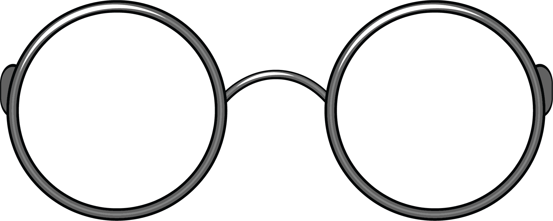 Round Glasses 1919x768 Clear Harry Potter Lunette Harry Potter Png