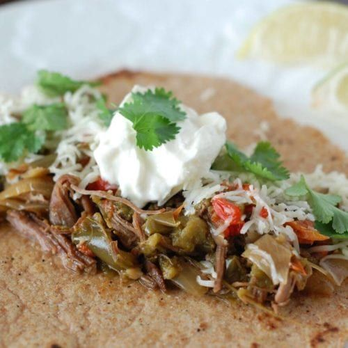 Slow Cooker Flank Steak Fajitas #steakfajitarecipe