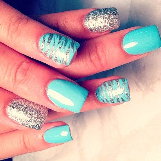 latest acrylic design nail ideas