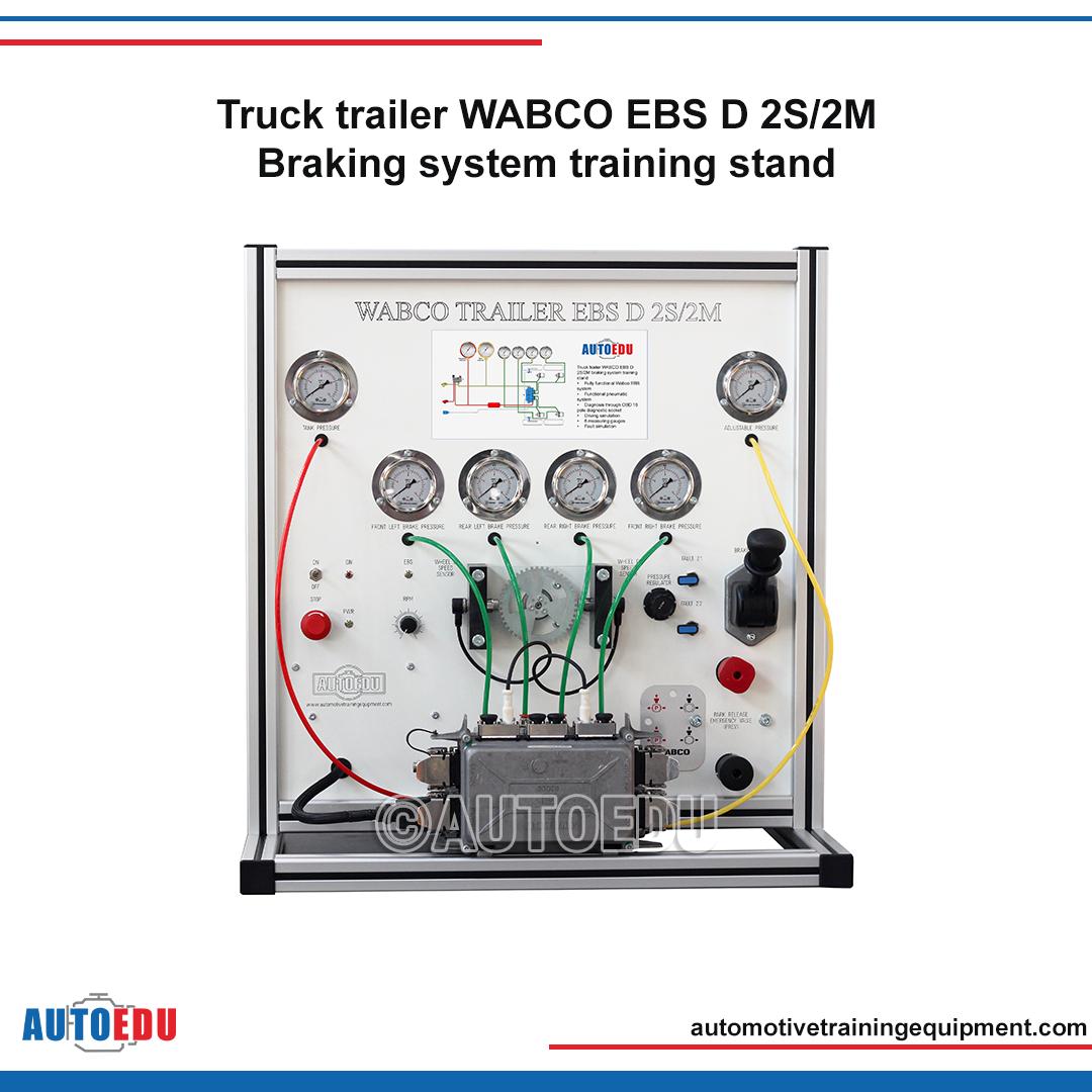 Truck Trailer Wabco Ebs D 2s 2m Braking System Training Stand Truck And Trailer Air Pressure Gauge Trucks
