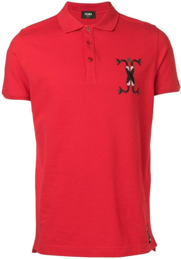 72d5ed7e4 Fendi embroidered snake motif polo shirt | Products in 2019 | Fendi ...