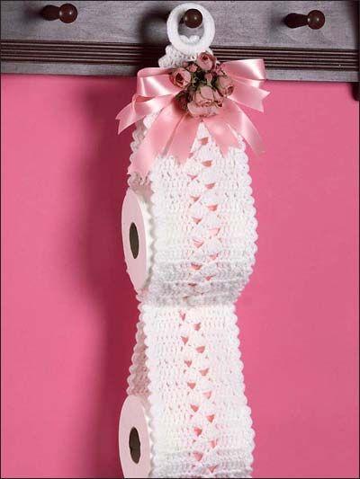 Rose Bouquet Spare Roll Holder: #free #crochet #pattern | Crochet ...