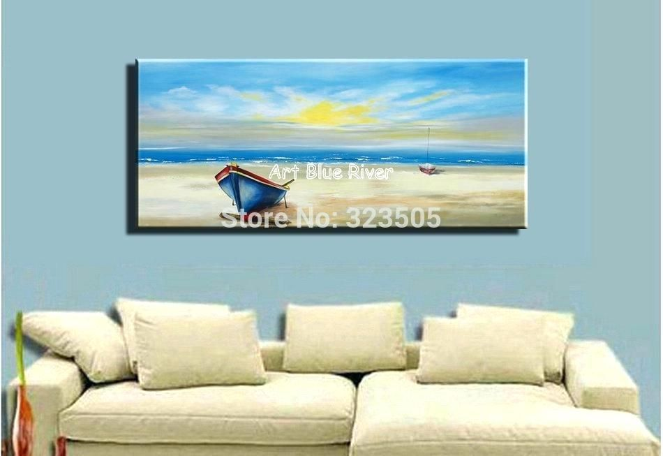 Beach Artwork Canvas Beach Wall Art For Bedroom Large Abstract