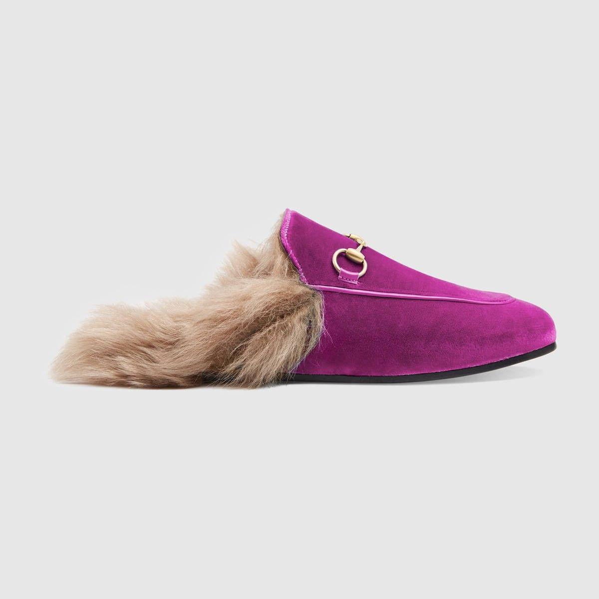 57d14ed7ac GUCCI Princetown Velvet Slipper - Fuchsia Velvet. #gucci #shoes #all ...