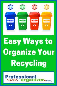 organize recycling