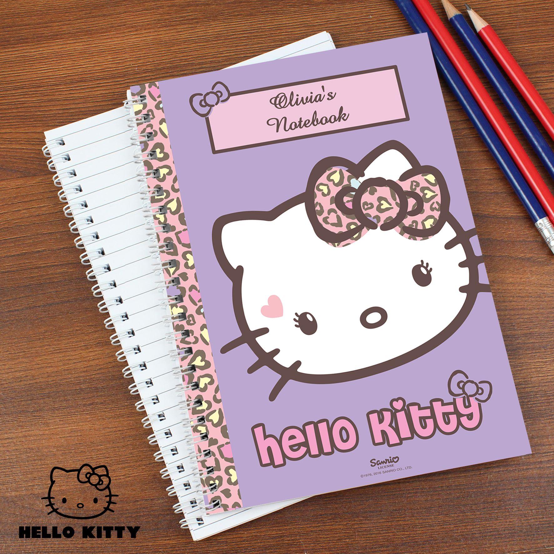 1179df306 Hello Kitty Sweet Heart Leopard Notebook | Hello Kitty Personalised ...
