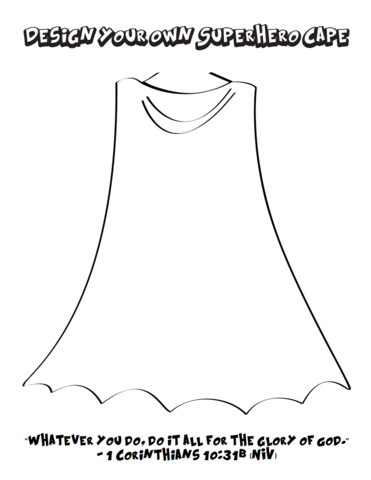 superhero lollipop cape template - design your own superhero cape and shield coloring pages