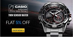Flat 5% OFF On Casio Watches   Products in the Casio Watches category have been rated 4.7 out of 5 based on 670 reviews. We have a great collection of 491Casio Watches on sale, ranging from Rs.755 to Rs.20895
