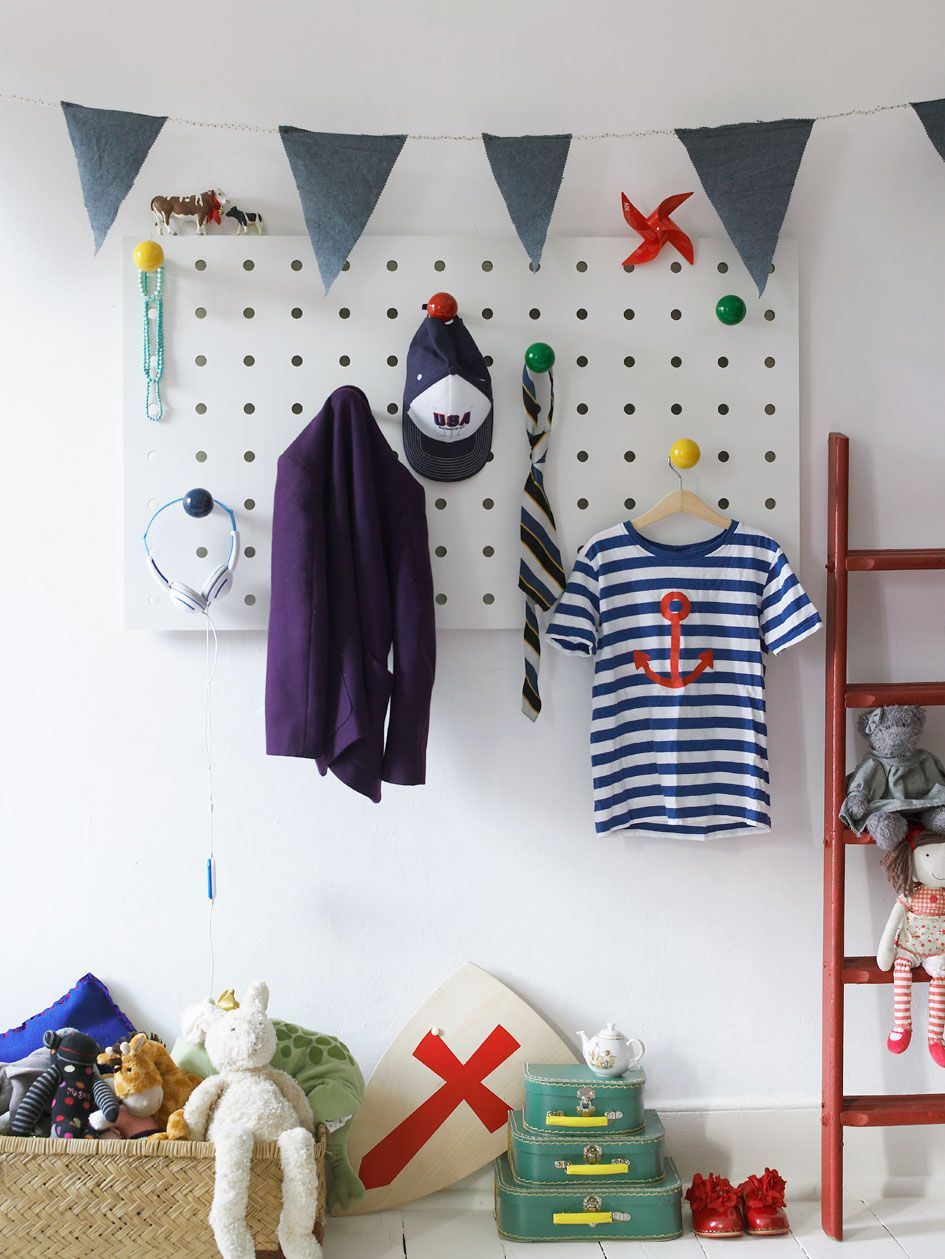 Oversized Peg Board For The Kids Room Hang Anything On The Big