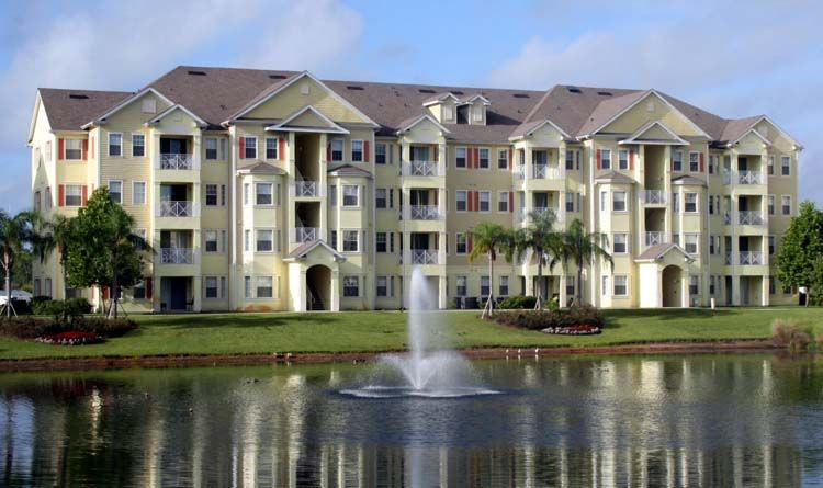 4 Story Solid Concrete Construction With Elevators Cane Island Apartments Florida Apartments Cane Island Kissimmee