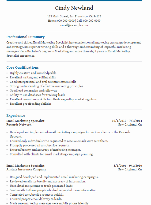 The 10 Best Digital Marketing CV Examples & Templates