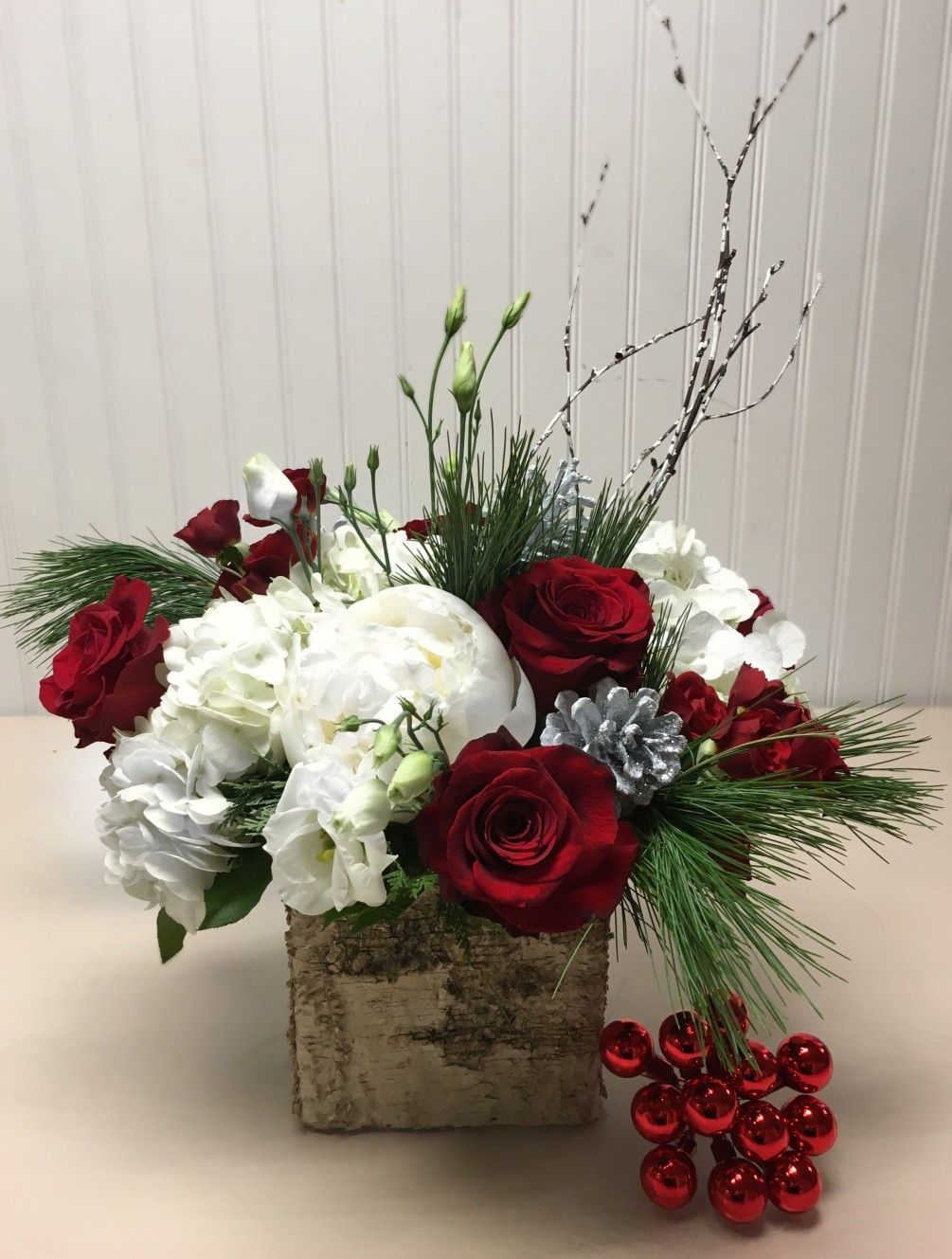 Christmas Birch by Coleen's Flower Shop Christmas floral