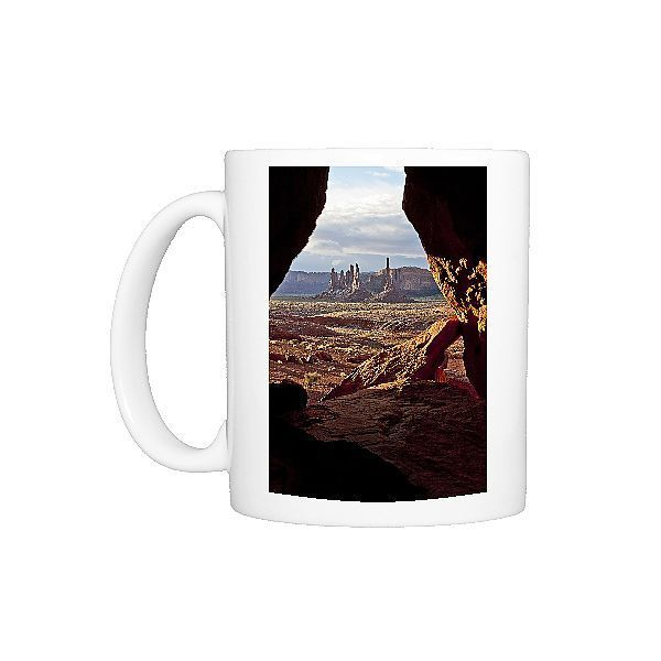 Photo Mug-Monument Valley seen from cave, Utah, USA-Ceramic dishwasher safe mug made in the UK