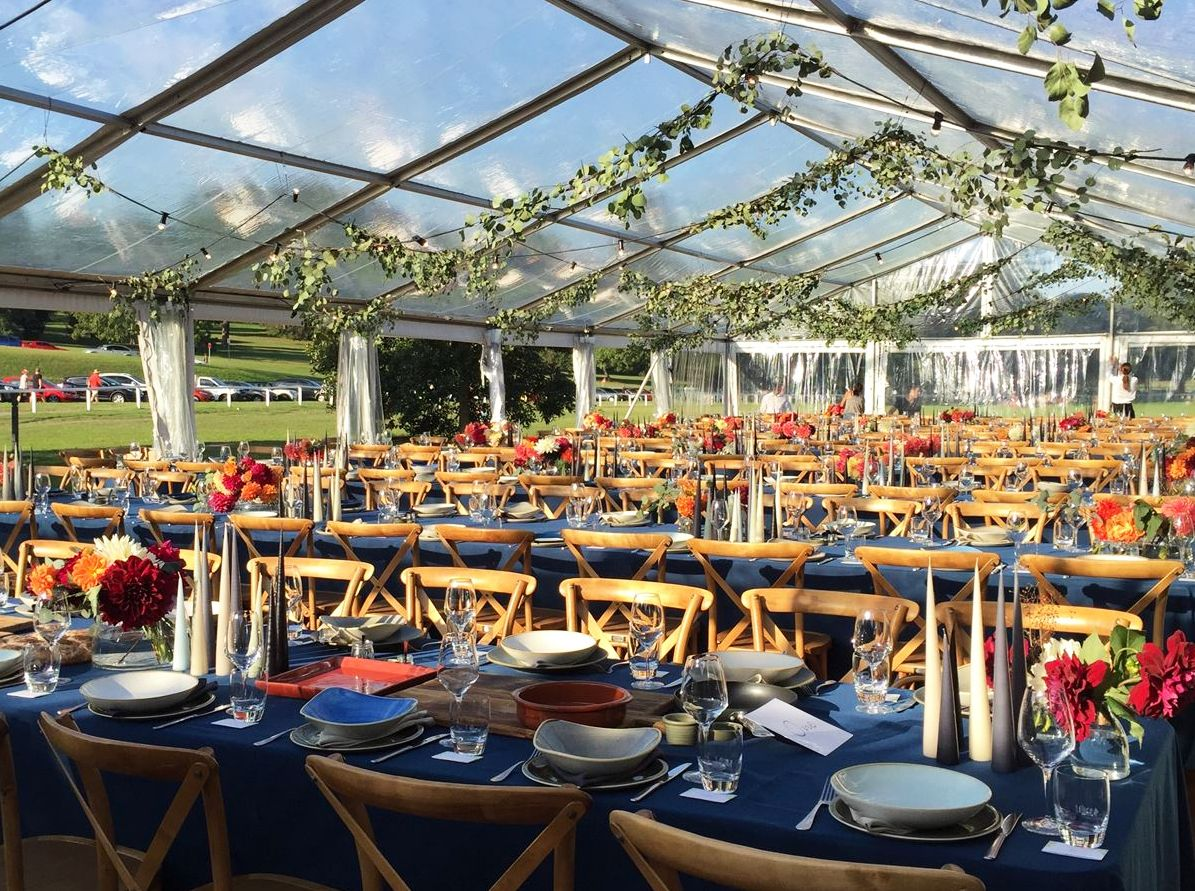 Navy Table Set Marquee In 2020 Clear Marquee Marquee Marquee Hire
