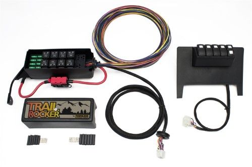 Painless Wiring 57000 8 Switch Fused Panel Fits 11 15 Wrangler Jk Black Fuse Panel Jeep Jeep Wrangler Jk