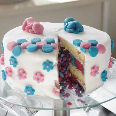 Babyshower taart, meisje of jongen.