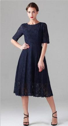 Navy Blue 2015 New Tea Length Mother Of The Bride Dresses Plus Size With  Half Sleeves Wedding Party Gowns Mother of the Groom Dress Custom from  Maggiebridal ... d1aa5e0ff26c