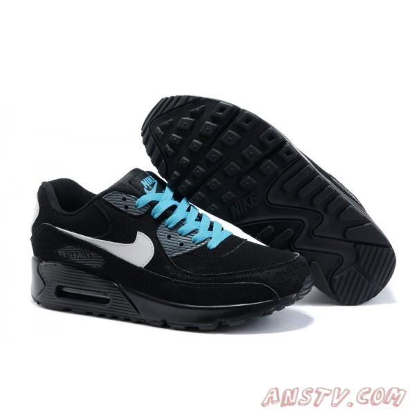 on sale 90af1 659f6 Air Max Femme Nike Air Max 90 Blanc   Noir   Bleu vert