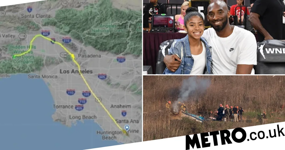 Bizarre flight path of Kobe Bryant's helicopter before it