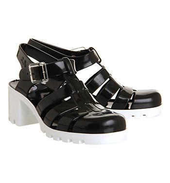 8a71be6dc379 JuJu Babe Hi Juju Jelly Black White - Sandals