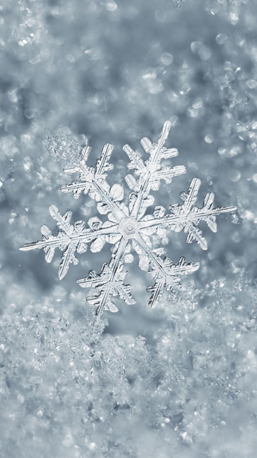 Snowflake Winter Wallpaper For Iphone Android 1 In 2018