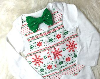 red christmas vest bodysuit baby boy christmas outfit fair isle christmas outfit boys