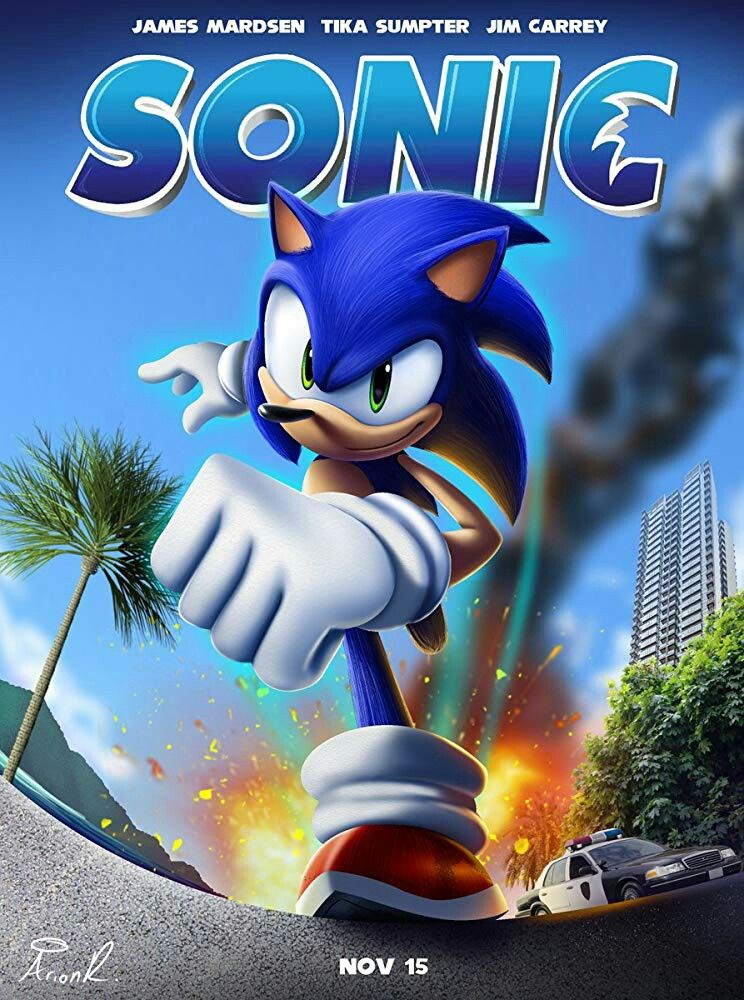 It would be cool if the poster was like this. Sonic the