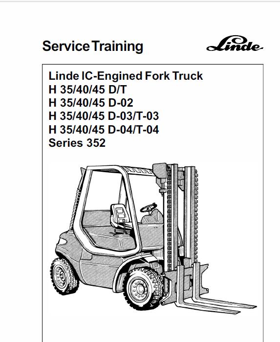 Linde Forklift Truck 352 Series H35 H40 H45 Repair Service Training Manual Trucks Forklift Volkswagen